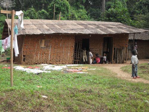 Mud hut Cameroon Africa