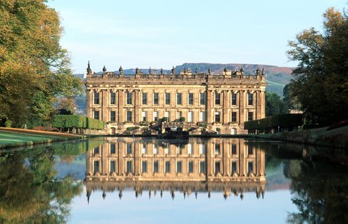 Chatsworth House on a clear day