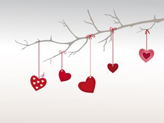 Branch with hearts