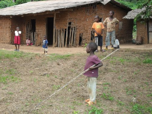 Children playing Cameroon Africa