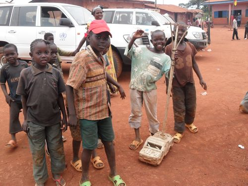 Boys with toy car Cameroon