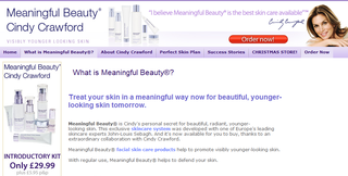 Meaningful beauty website