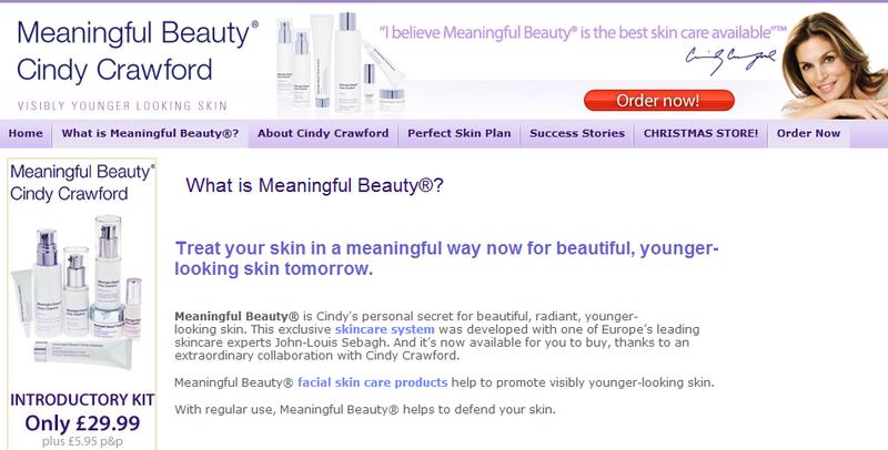Meaningful beauty website