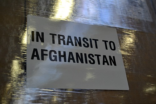 In transit to Afghanistan