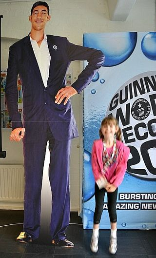 World's tallest living man - cardboard cutout