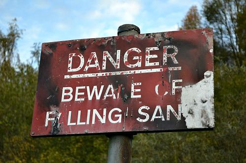 Beware of falling Santa
