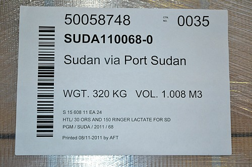 UNICEF Supplies for Sudan