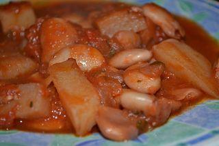 Butter bean and potato casserole
